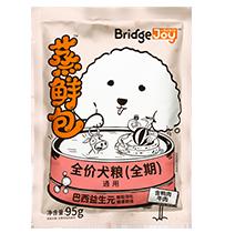 比瑞吉俱乐部蒸鲜包全价犬粮(全期)含鸭肉牛肉